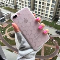 """Чехол для iPhone 7 Plus, """"Соты"""", белый"""