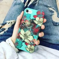 Чехол-накладка iPhone 7, Soft Touch, Flowers