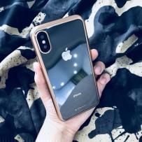 """Чехол-накладка силикон Deppa Gel Plus Case D-85337 для iPhone XS/ X (5.8"""") 0.9мм Золотистый матовый борт"""