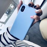 """Чехол-накладка силиконовый Hoco Silicone Case для iPhone XS/ X (5.8"""") Васильковый"""