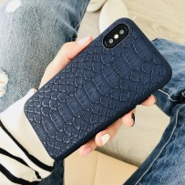"Чехол-накладка пластиковый Mobest Gulin Python для iPhone XS/ X (5.8"") Синий"