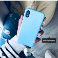 """Чехол-накладка силиконовый COTEetCI Liquid Silicone Case для iPhone XS/ X (5.8"""") CS8012-LB Голубой"""