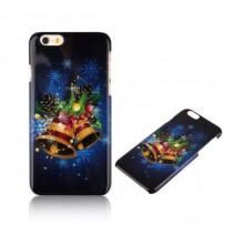 """Новогодний чехол """"Колокольчики"""" для iPhone 6 Plus, синий"""