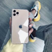 Чехол-кристалл для iPhone 11, противоударный кристально-прозрачный, уплотнённый силикон