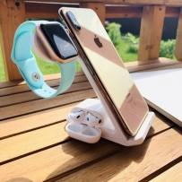 Беспроводное зарядное устройство COTEetCI для Apple iPhone/ Watch/ Air Pods 3в1 Wireless Charger (CS5169-WH) Белый
