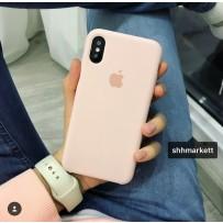 """Чехол-накладка силиконовый Apple Silicone Case для iPhone XS/ X (5.8"""") Розовый песок под оригинал №18"""