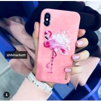 """Чехол  Nimmy """"Розовый фламинго""""  iPhone XS/ X (5.8)"""