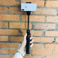 Штатив-монопод для селфи Tripod Selfie Stick Bluetooth, 55-90 mm Черный