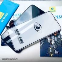 Стекло BLUEO для iPhone XS MAX/ 11 Pro Max 0.26mm Black (максимально тонкая рамка, не оставляет отпечатки пальцев)