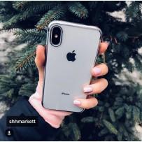 """Чехол """"Кант"""" для iPhone XS/ X (5.8), с серебряным кантом"""