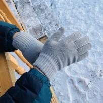 """Сенсорные перчатки iGloves, """"Классика"""", серый (мужские)."""