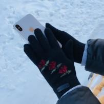 """Шерстянные перчатки iGloves """"Красные розы"""", (женские)"""