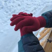 """Сенсорные перчатки iGloves, """"Классика"""", красный (мужские)."""