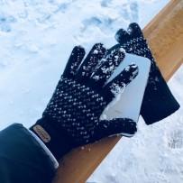 """Шерстянные перчатки iGloves """"Зимний узор"""", (женские)"""
