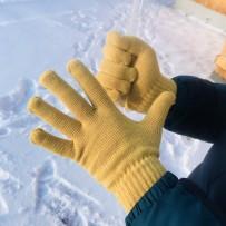 """Сенсорные перчатки iGloves, """"Классика"""", горчичный, (мужские)"""