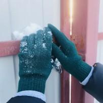 """Сенсорные перчатки iGloves """"Классика"""", изумрудный (женские)"""