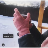 """Сенсорные перчатки iGloves """"Классика"""", нежно-розовый (женские)"""