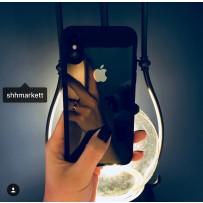 """Накладка Baseus ARAPIPHX-SB01 пластиковая Suthin Case для iPhone XS/ X (5.8"""") Прозрачная с силиконым черным бортом"""