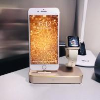 Док-станция COTEetCI Base (B18)MFI Hub Dock для Apple Watch & iPhone 2in1 stand CS7200-CEG Gold - Золото