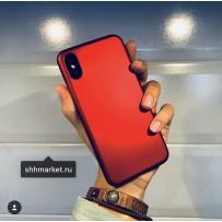 """Чехол-накладка силиконовый J-case Delicate Series Matt 0.5mm для iPhone XS/ X (5.8"""") Красный"""