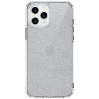 Чехол Uniq для iPhone 12/12 Pro LifePro Tinsel Anti-microbial Clear (антибактериальный материал)