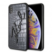 Чехол Karl Lagerfeld для iPhone XS Max Animal print Croco Signature Hard PU Black (KLHCI65CROBK)