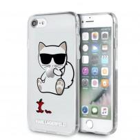 Чехол Karl Lagerfeld для iPhone 7/8/SE 2020 TPU/PC collection Choupette Apple Hard Transparent