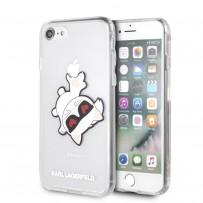 Чехол Karl Lagerfeld для iPhone 7/8/SE 2020 TPU/PC collection Choupette Fun Hard Transparent