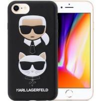 Чехол Karl Lagerfeld для iPhone 7/8/SE 2020 TPU collection Karl and Choupette Hard Black