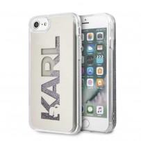 Чехол Karl Lagerfeld для iPhone 7/8/SE 2020 Liquid glitter Mirror Hard Silver
