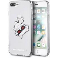 Чехол KARL Lagerfeld для iPhone 7/8 PLUS TPU collection Choupette Fun Hard Transparent