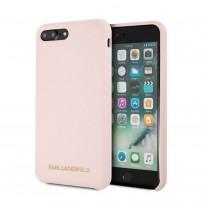 Чехол KARL Lagerfeld для iPhone 7/8 PLUS Liquid silicone Gold logo Hard Light pink