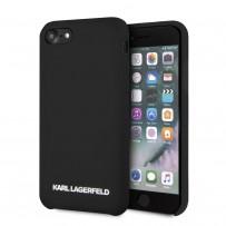 Чехол Karl Lagerfeld для iPhone 7/8/SE 2020 Liquid silicone Gold logo Hard Black