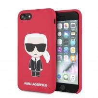 Чехол Karl Lagerfeld для iPhone 7/8/SE 2020 Liquid silicone Iconic Karl Hard Red