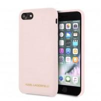 Чехол Karl Lagerfeld для iPhone 7/8/SE 2020 Liquid silicone Gold logo Hard Light pink