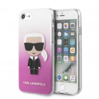 Чехол Karl Lagerfeld для iPhone 7/8/SE 2020 TPU collection Choupette Sunglasses Hard Pink