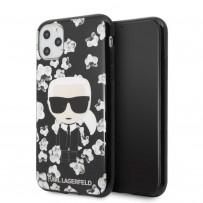 Чехол KARL Lagerfeld для iPhone 11 Pro TPU Collection Flower Hard Black