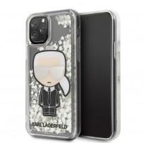 Чехол KARL Lagerfeld, для iPhone 11 Pro (KLHCN58GLGIRKL) блестки светятся в темноте