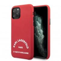 Чехол KARL Lagerfeld для iPhone 11 Pro  PU Leather Rue Saint Guillaume Hard Red