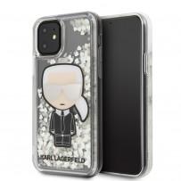 Чехол KARL Lagerfeld, для iPhone 11 (KLHCN61GLGIRKL), блестки светятся в темноте
