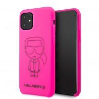 Чехол KARL Lagerfeld, для iPhone 11 (KLHCN61SILFLPI)