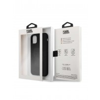 Чехол KARL Lagerfeld для iPhone 11 чехол Liquid silicone Ikonik outlines Hard Black (KLHCN61SILTTBK)