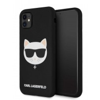 Чехол KARL Lagerfeld для iPhone 11 чехол Liquid silicone Choupette Hard Black (KLHCN61SLCHBK)