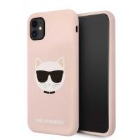Чехол KARL Lagerfeld для iPhone 11 чехол Liquid silicone Choupette Hard Pink (KLHCN61SLCHLP)