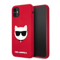 Чехол KARL Lagerfeld для iPhone 11 чехол Liquid silicone Choupette Hard Red (KLHCN61SLCHRE)