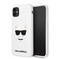 Чехол KARL Lagerfeld для iPhone 11 чехол Liquid silicone Choupette Hard White (KLHCN61SLCHWH)