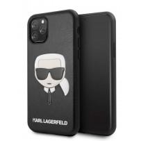 Чехол KARL Lagerfeld для iPhone 11 Pro Max чехол PU Leather Karl's Head Hard Black (KLHCN65KHBK)