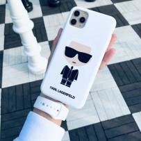 Чехол KARL Lagerfeld для iPhone 11 Pro Max чехол Liquid silicone Iconic Karl Hard White
