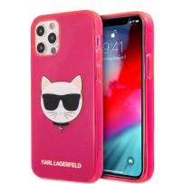 Чехол Karl Lagerfeld для iPhone 12 Pro Max (6.7) TPU FLUO Choupette Hard Transp Pink (KLHCP12LCHTRP)