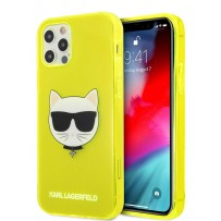 Чехол Karl Lagerfeld для iPhone 12 Pro Max (6.7) TPU FLUO Choupette Hard Transp Yellow (KLHCP12LCHTRY)